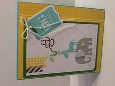 Stampin' Up card using Zoo Babies stamp set.