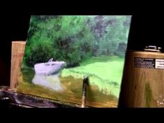 Acrylic Painting Lesson 14 - Boat and Water Scene - YouTube