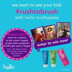 Rush to brush with hello products photo contest {Giveaway} - Savvy Sassy Moms #RushtoBrush #spon
