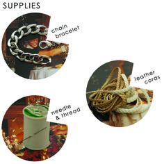 woven chain bracelet - supplies