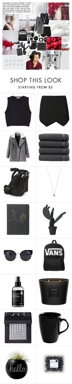 """promise me you'll never leave my side..."" by haylekayle ❤ liked on Polyvore featuring Dollhouse, A.L.C., Chicnova Fashion, Linum Home Textiles, Old Navy, Vanessa Mooney, Marc by Marc Jacobs, Wandschappen, Vans and Sephora Collection"