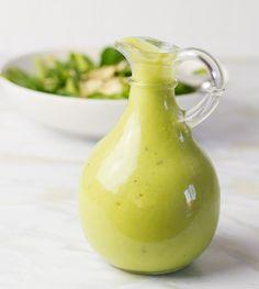 Creamy Avocado Vinaigrette | 18 Homemade Salad Dressing Recipes