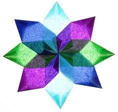 A variation of the star made i blue-green-purple colors