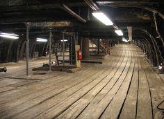 Below deck on the Vasa.