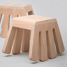 A small rocking stool created by the designer Melvin Ong from Singaporean studio Desinere.