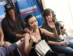 Actors Norman Reedus Christian Serratos and Chandler Riggs attend SiriusXM's Entertainment Weekly Radio Channel Broadcasts From ComicCon 2016 at Hard...
