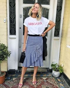 15 Gingham Outfit Ideas, Because We're Not Even Close to Being Bored Yet via @WhoWhatWearUK