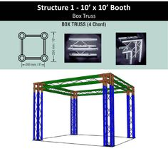 Structure 1 10' x 10' Trade Shop Booth Box Truss