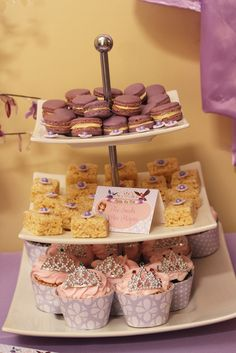 Tasty treats at a Sofia the First party!   See more party ideas at CatchMyParty.com!  #partyideas #sofiathefirst