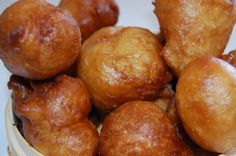 I haven't actually made these myself, but had them at one of my athlete's houses. They were sooo yummy and delish. They called them Puff Balls.