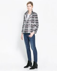 CHECKED DOUBLE BREASTED JACKET Ref. 7643/802