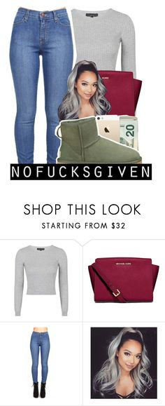 """""""Untitled #66"""" by prettyjey ❤ liked on Polyvore featuring Topshop, MICHAEL Michael Kors and UGG Australia"""