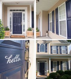 Naval Blue by Sherwin Williams (6244)... Shutters and Door makeover! | Whispering Whims