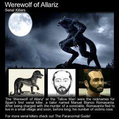 "Manuel Blanco Romasanta - The Werewolf of Allariz. ""Manuel made the… Mythological Creatures, Mythical Creatures, Scary Ghost Stories, Weird Stories, Legends And Myths, Scary Legends, Creepy Facts, Creepy Stuff, Strange History"