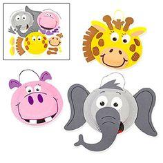 Paper Plate Zoo Animal Craft Kit