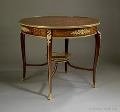 A Kingwood and Parquetry Inlaid, Gilt-Bronze Mounted Centre Table by FRANÇOIS LINKE. France, Circa 1900. - Adrian Alan