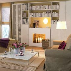 lovely neutral room with plum accents