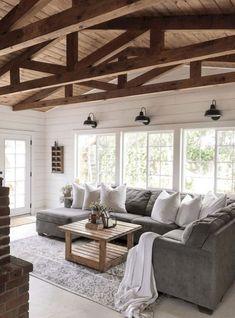 45 Modern Farmhouse Living Room Makeover Ideas