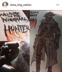 The Hunt is Began, Hunter  #random #game #sketch #ps4 #bloodborne #hunter #fromsoftware #steelbook #watercolours #moleskineart