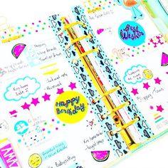 Planner layout, planner spread, washi tape, stickers, sticker addict