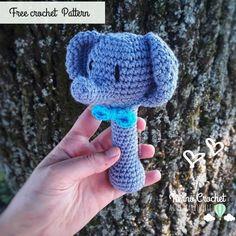 Sonajero Animalitos, Elefante ~Patron gratuito amigurumi ~ Free Crochet pattern. Baby Rattle – Tierno Crochet 🍃 Amigurumi Free, Amigurumi Tutorial, Amigurumi Toys, Pattern Baby, Free Pattern, Crochet Baby, Free Crochet, Amigurumi For Beginners, Baby Rattle