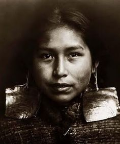 Tsawataineuk (First Nations) girl - I don't know if this specific photograph was taken in Canada or the United States, but the Tsawataineuk are one of many First Nations peoples who live on Vancouver Island, British Columbia.