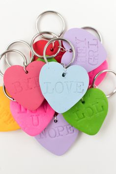 DIY Embossed Heart Keychains   Club Crafted
