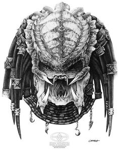 Science Fiction Cult Classics  /  Predator concept drawing by Mark 'Crash' McCreery for Stan Winston Studios, 1987