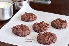 No Bake Chocolate Cookies Recipe (paleo, gluten free, grain free) LivingHealthyWithChocolate.com
