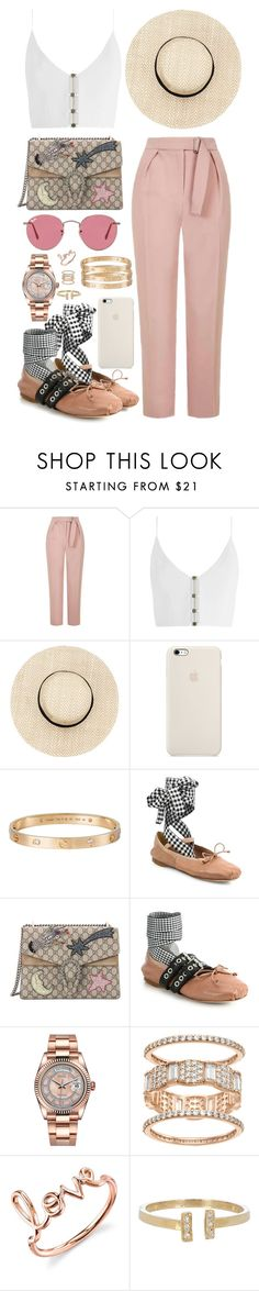 """""""inspired running errands outfit"""" by cristinahope on Polyvore featuring moda, Topshop, Zimmermann, Cartier, Miu Miu, Gucci, Rolex, Sydney Evan, Loren Stewart y Ray-Ban"""