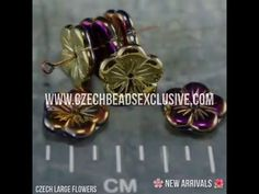 Czech Large Flowers in new California finishes. They are so lovely - what do you think? ➡SHOP NOW: www.CzechBeadsExclusive.com