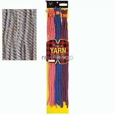 """Vivica Fox Virginia Yarn Twists 20"""" - Color GREY - Synthetic Braiding"""