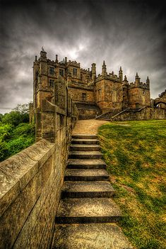 Bolsover Castle, Derbyshire, England. It was built by the Peverel family in the 12th century and became Crown property in 1155 when the third William Peverel fled into exile. The Ferrers family who were Earls of Derby laid claim to the Peveril property
