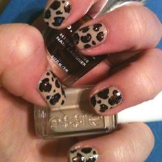 My first attempt at a leopard mani. Not too shabby!