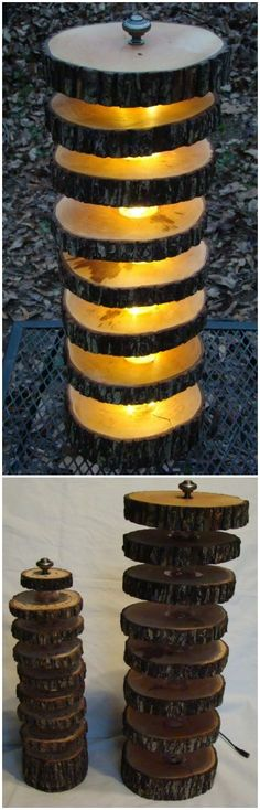 Handmade Tree Log Floor Lamp