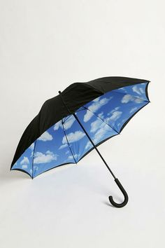 """She jokingly calls this her """"lucky umbrella"""" but for the most part Norah tries to hide indoors when it's raining."""