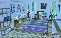"""from the Lot """"Girly Dorm"""" Art Room"""