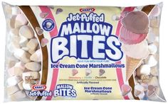 Jet-Puffed, Mallow Bites Ice Cream Cone Marshmallows, Bag (Pack of Hot Chocolate Bars, Chocolate Brownies, Chocolate Flavors, Different Ice Cream Flavors, Gourmet Recipes, Snack Recipes, Snacks, Jet Puffed Marshmallows, Skinny Cow