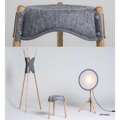 Håll Collection by Beau Birkett. For more info and images visit www.prodeez.com #furniture #lamp #hanger #stool #felt #creative #design #ideas #designer #beaubirkett #interior #interiordesign #product #productdesign #instadesign #prodeez #furnituredesign #architecture #industrialdesign