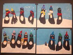 KLASSENKUNST: Pinguin-Fuss-Bild