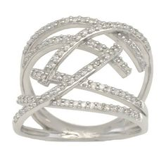 Diamond ring 0.62ct  ring white gold 9k by DiamondJewelryGold