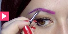 colored eyebrows...i like this idea a little too much...