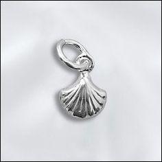 SS/CR5/SH   Sterling Silver Mini Charm - Shell