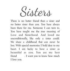 Sisters Personalised Box Frame Poem