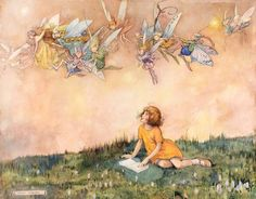 Fairy Stories, Helen Mary Jacobs. (1888 - 1970) - Pen Ink and Watercolor with Bodycolour and Pencil on Board -