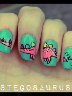 Dinosaur nails. Love it!