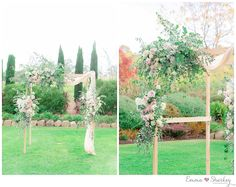 Golding Wines Adelaide Wedding Photographer Emma_Sharkey_Photography  What a stunning floral wedding arbour. Ivory and blush pinks were used with greenery to create a relaxed but formal look.