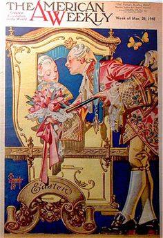J.C. Leyendecker, cover illustration art for The American Weekly.