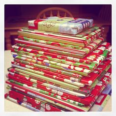 24 books under the tree for the kids to pick one each night leading up to Christmas Eve. Cute Christmas tradition!!