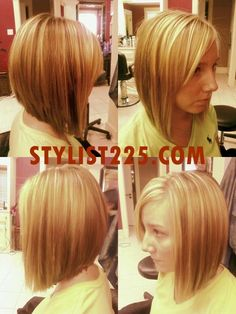 inverted bob haircut back view | Long Inverted Bob, long enough to pull back into a low ponytail. We ...